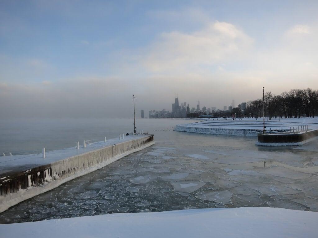 Chicago during the polar vortex
