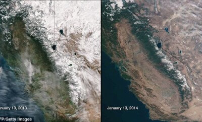 California drought yearly comparison