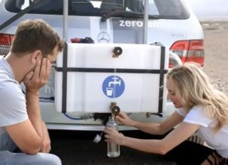 Joshua Jackson and Diane Kruger Mercedes-Benz B-Class F-Cell