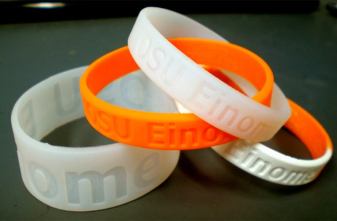 silicon environmental health wristband
