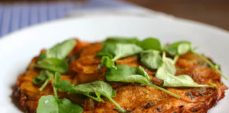 curried sweet potato galette