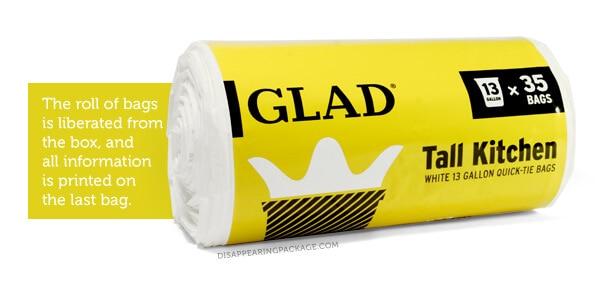 Glad bags packaging