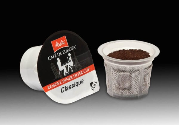 Melitta recyclable single serve coffee cup