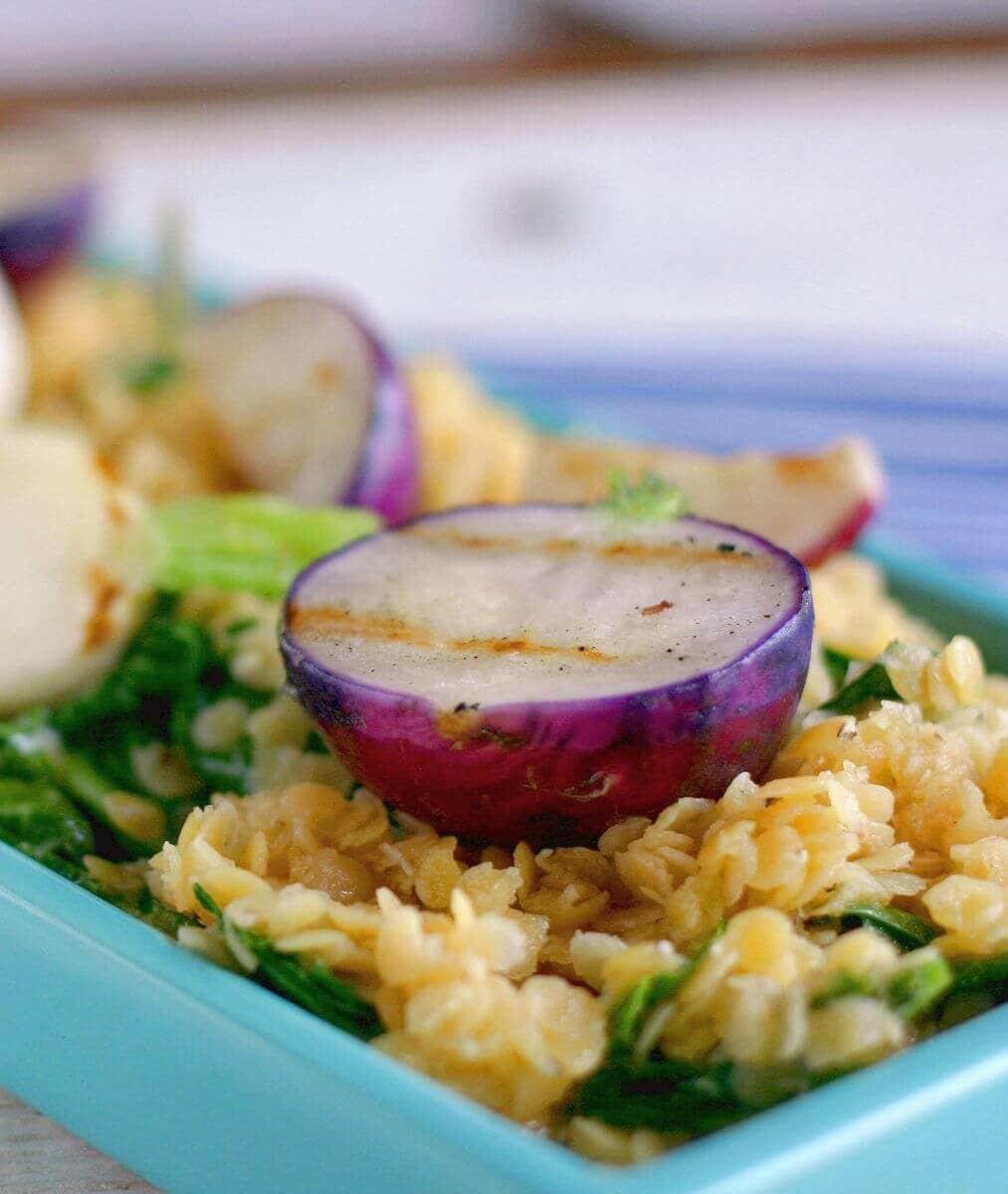 grilled radish salad