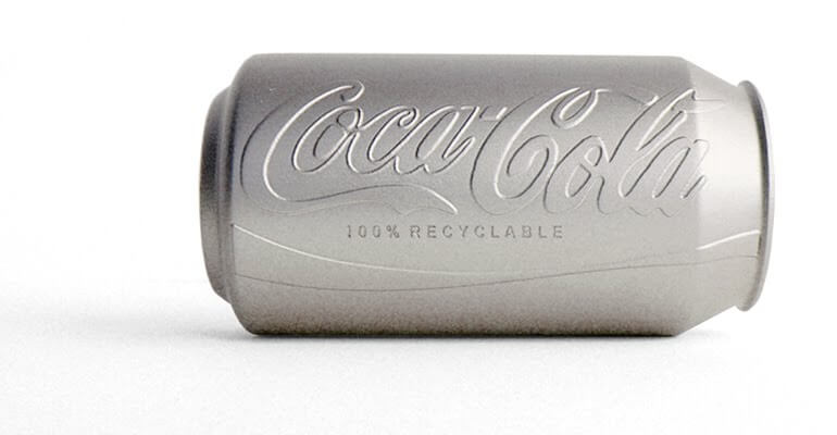 colorless coke can