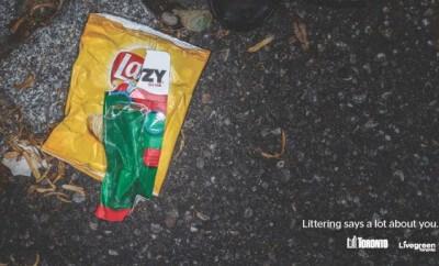 livegreen toronto littering ad lazy