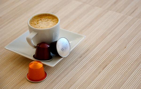 Espresso made from a coffee pod