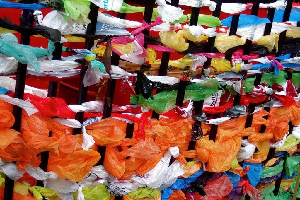 colourful plastic bags