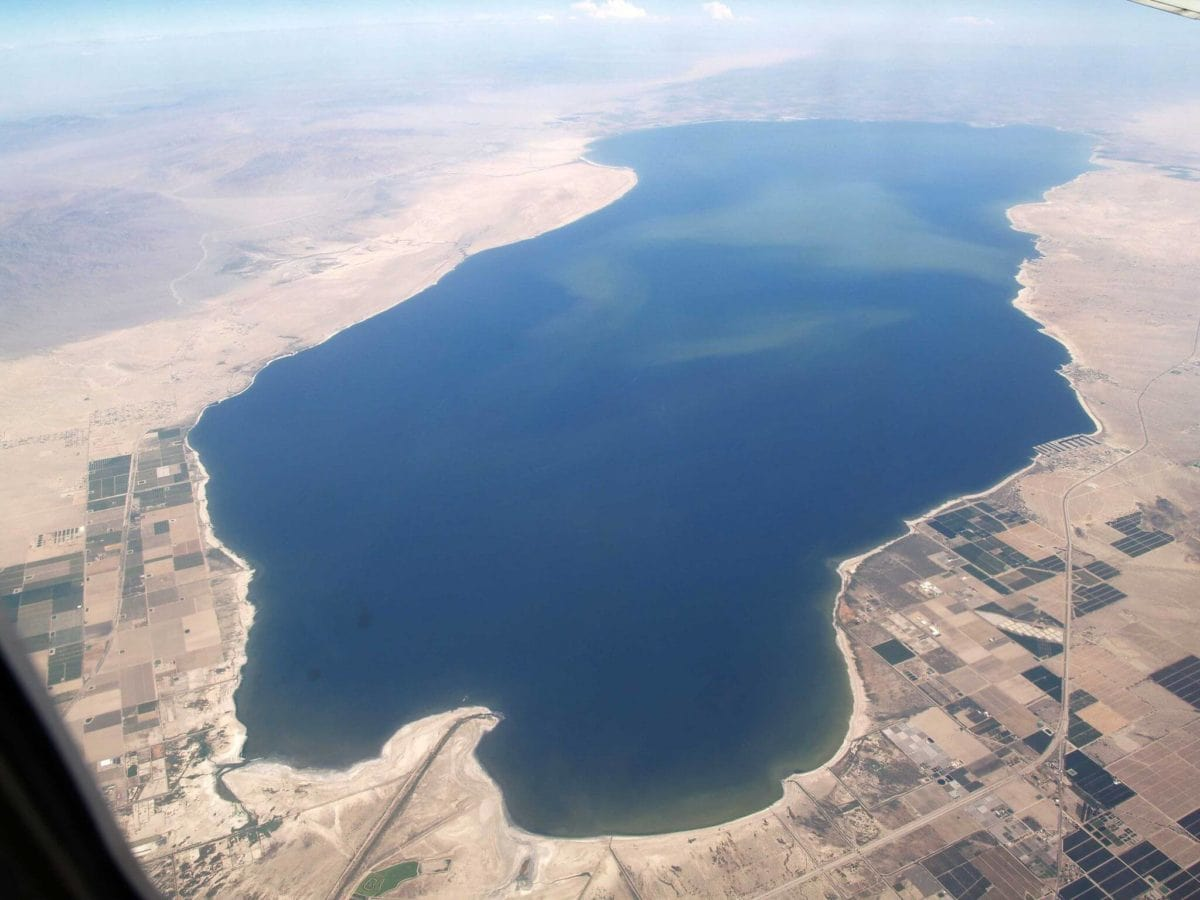 salton sea from above