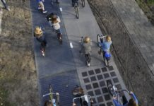 Netherlands solar bike path
