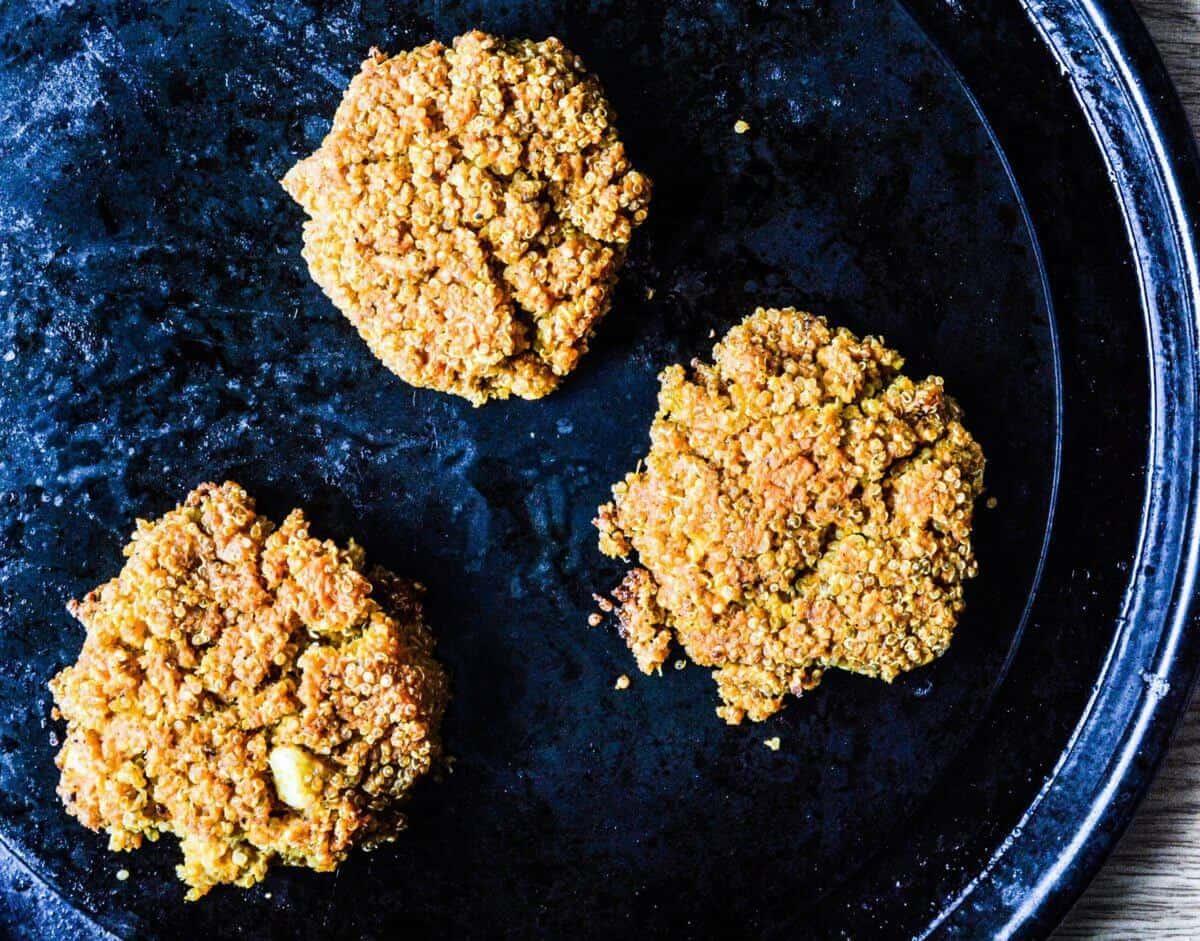 turmeric sweet potato quinoa fritters