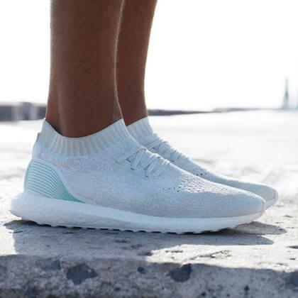 adidas ocean plastic shoes on feet