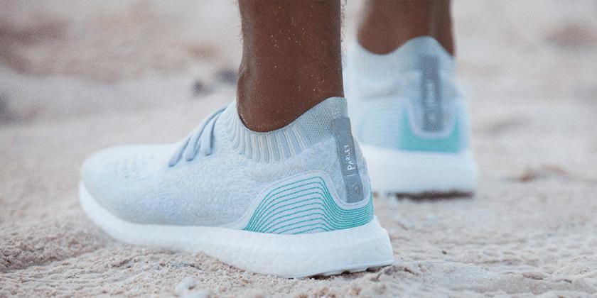 adidas ocean plastic shoes worn on beach