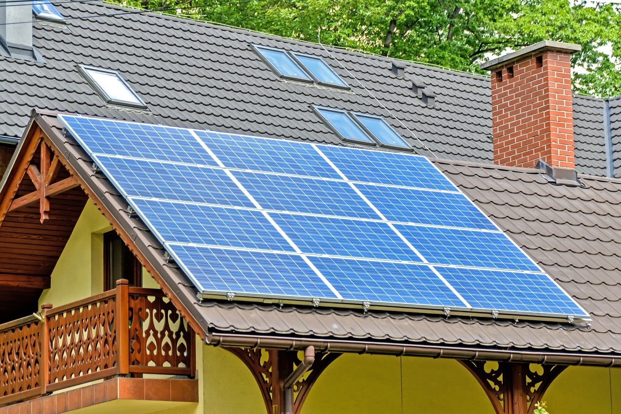 solar panels array