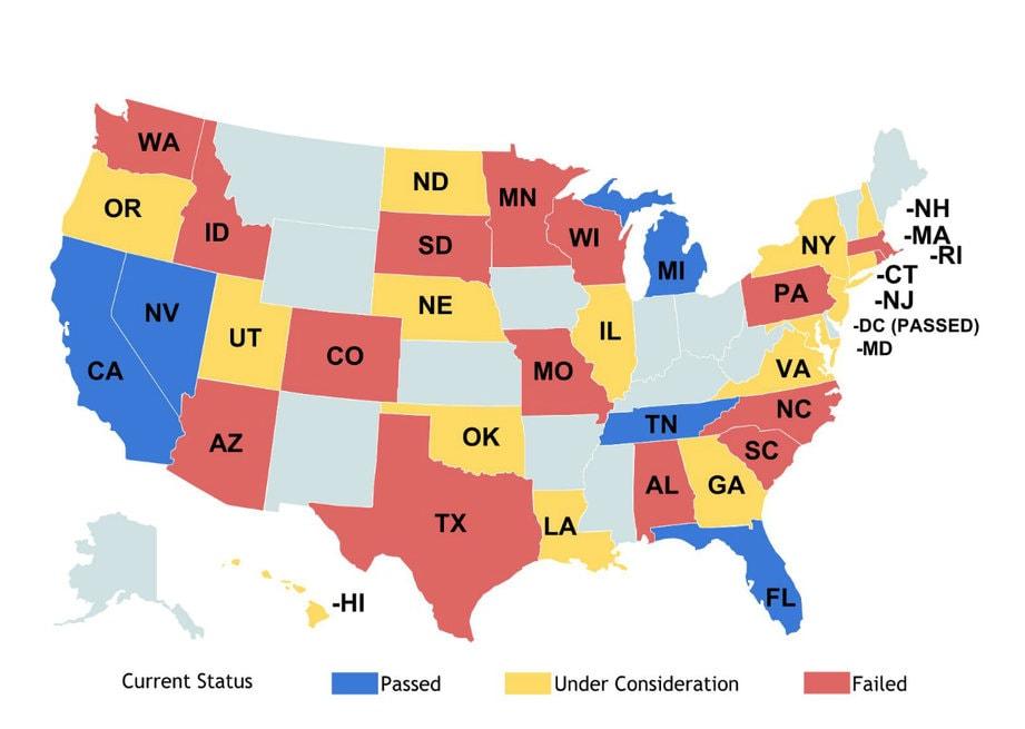 Statusmap-driverless cars legislation