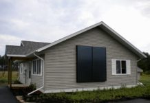 Solar air heating on home