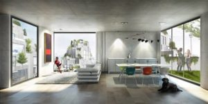 Indoor of Bjarke Ingels designed Toronto architecture