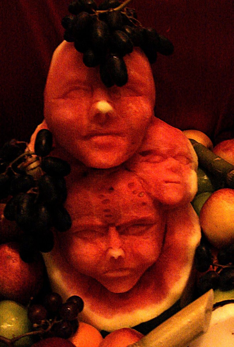 carved veggie faces