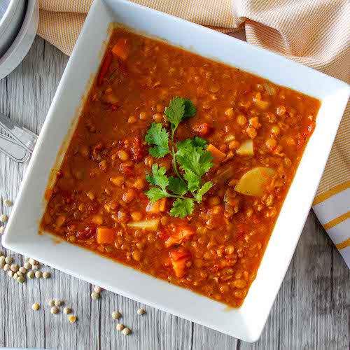 Vegan Lentil and Vegetable Soup