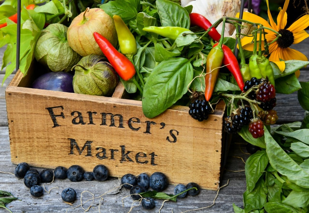 Eco-friendly shopping tips - shop at local farmers markets