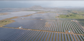 Pavagada solar park in India