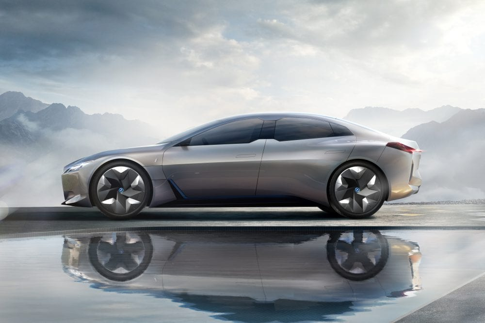 BMW i Vision Concept electric car from side