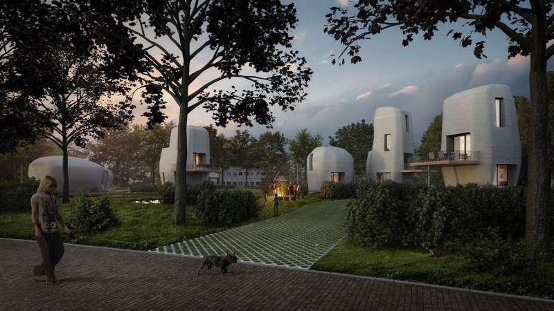 Dutch 3D printed houses