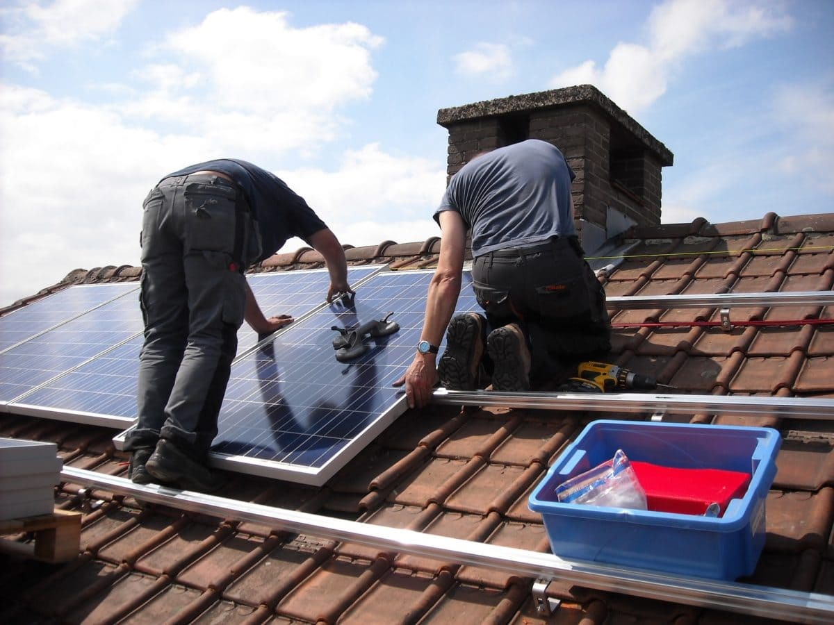 installing solar panels on house
