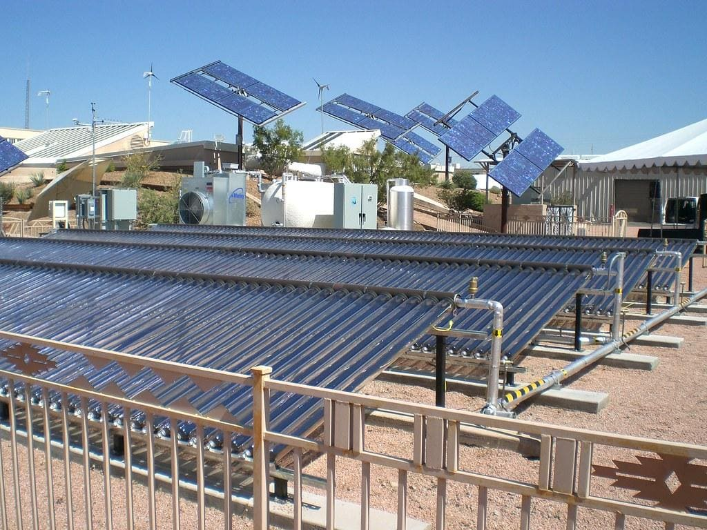 air conditioning solar panels
