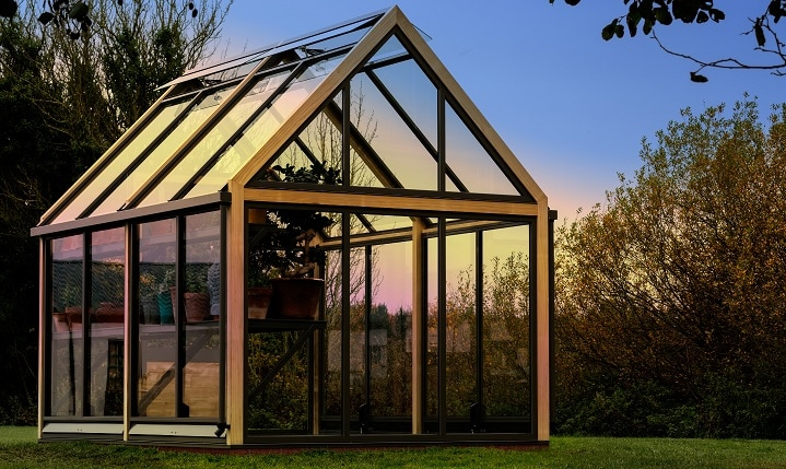 Accoya wood greenhouse