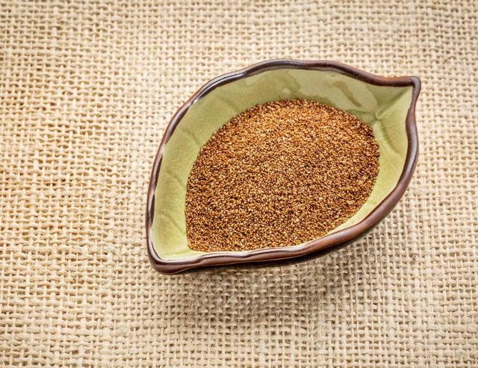 teff grain in a bowl