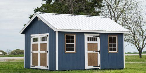an example of a shed with two doors for ease of access